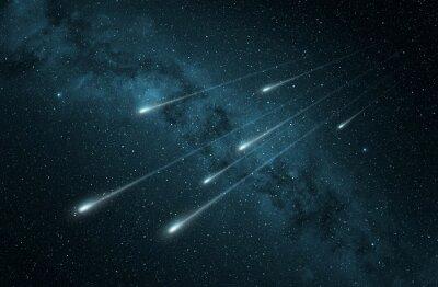Adesivo Chuva de meteoros no céu noturno estrelado
