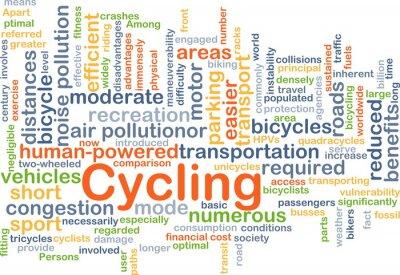 Adesivo Ciclismo backgroundConcept