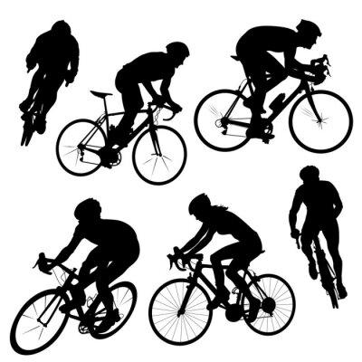 Adesivo ciclismo, silhuetas