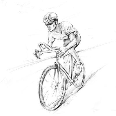 Adesivo ciclista de corrida