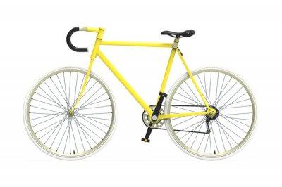 Adesivo Cidade artes fixas bicicleta colorida mistura Isolated background