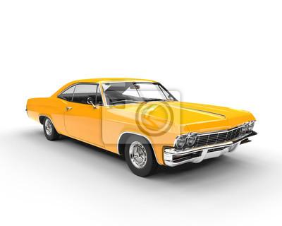 Adesivo Clássico, músculo, amarela, car - estúdio, iluminação, tiro