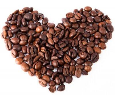 Adesivo Close-up, coração, natural, marrom, fritado, café, sido