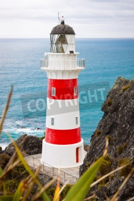 Adesivo Close-up of a beautiful lighthouse at Cape Palliser, North Island, New Zealand
