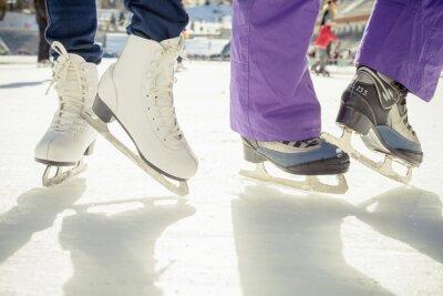 Adesivo Close-up, patinação, sapatos, gelo, patinação, ao ar livre, gelo, rink