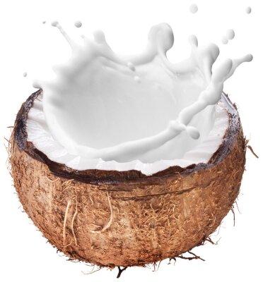 Adesivo Coco com respingo de leite no interior.