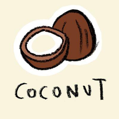Adesivo Coco, pálido, fundo