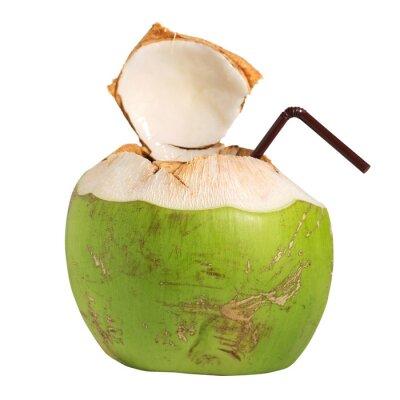 Adesivo Coconut drinque de frutas água isolado no branco