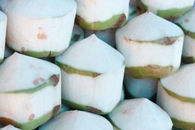 Adesivo Cocos frescos no mercado