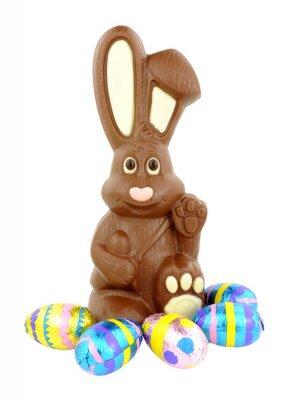 Adesivo Coelhinho da Páscoa do chocolate e ovos