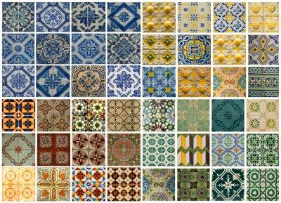 Adesivo Colagem de azulejos de cores diferentes em Portugal