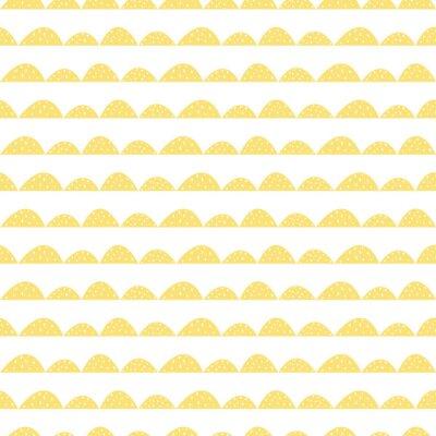 Adesivo Colinas estilizadas colina. Wave padrão simples para tecido, têxtil e roupa de bebê.