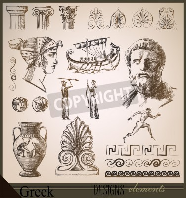 Adesivo collection of design elements Ancient Rome