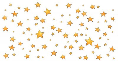 Adesivo Collection of stars style sketch cartoon watercolor.