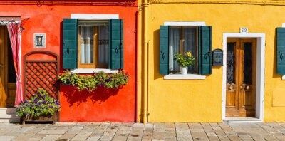 Adesivo Colorido, casa, fachada, burano, itália