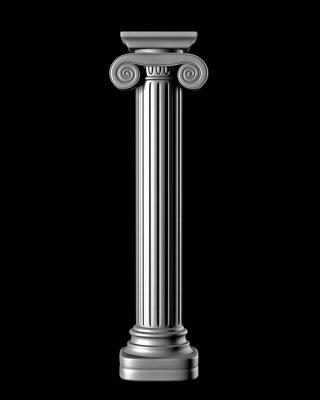 Adesivo Coluna clássica no fundo preto