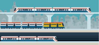 Adesivo Comboio, Céu trem, metrô, Ilustração Ícones Objetos
