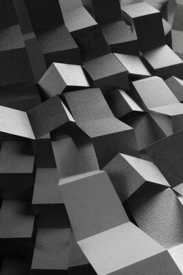 Adesivo Composição abstrata de listras de papel, fundo geométrico