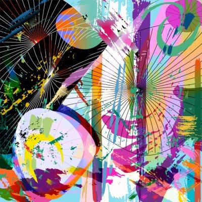 Adesivo Composição abstrata multicolor, formato do vetor
