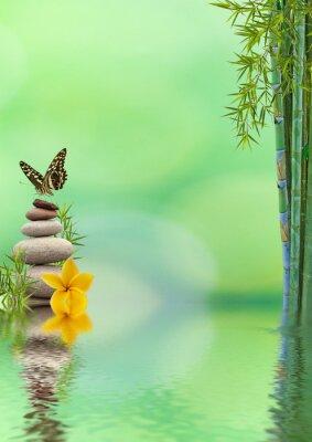 Adesivo conceito de natureza détente, bien-être, relaxamento