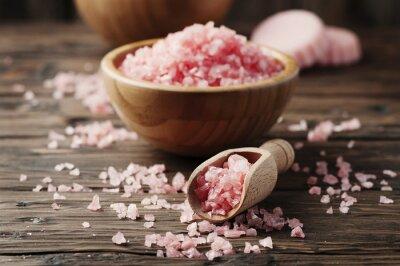 Adesivo Conceito, spa, tratamento, rosa, sal