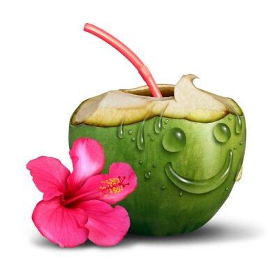 Adesivo Conceito tropical feliz da bebida