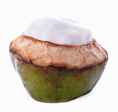 Adesivo Concha de coco isolado no fundo branco