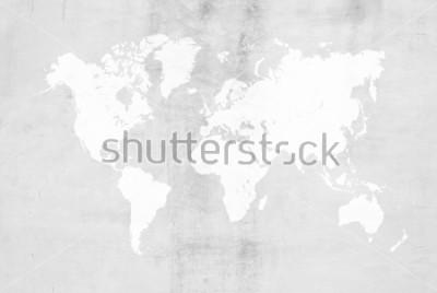 Adesivo Concreto de gesso cimento polimento estilo loft parede ou piso textura textura abstrata superfície uso de fundo para o fundo com o mapa do mundo