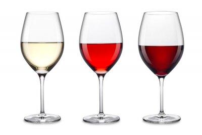 Adesivo conjunto copo de vinho