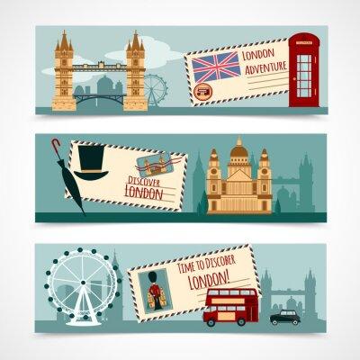 Adesivo Conjunto de banner turístico de Londres