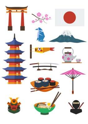 Adesivo Conjunto de Cultura Japonesa