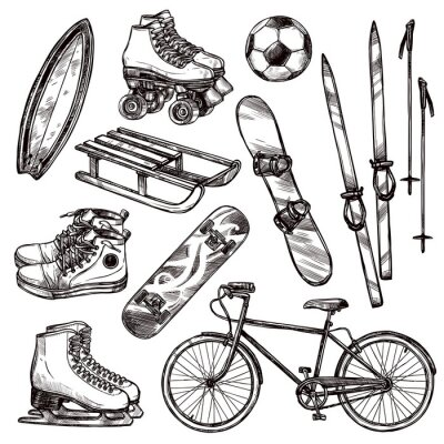 Adesivo Conjunto de equipamentos de esporte