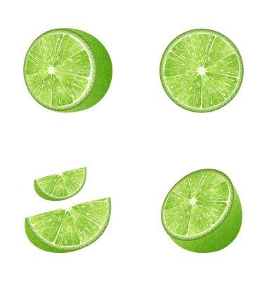 Adesivo Conjunto de frutas limão