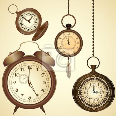 709b9c06795 Conjunto de relógios antigos laptop adesivos • adesivos para a ...