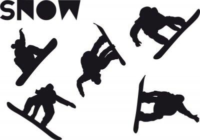 Adesivo Conjunto de salto de Druck Snowboarder