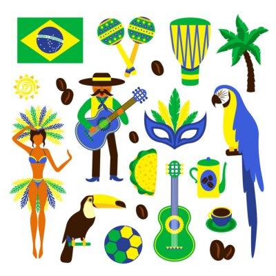 Adesivo Conjunto decorativo Brasil