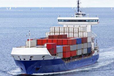 Adesivo Container navio no Mar Báltico em Kiel