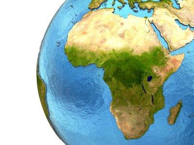 Adesivo Continente africano na terra