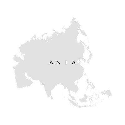 Adesivo Continente Ásia