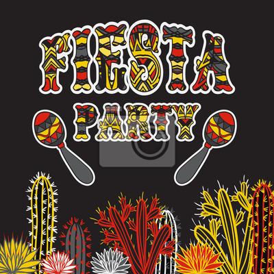 Adesivo Convite mexicano do partido da festa com maracas 6d374affc81