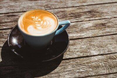 Adesivo Copo, cappuccino, café, arte, madeira, tabela