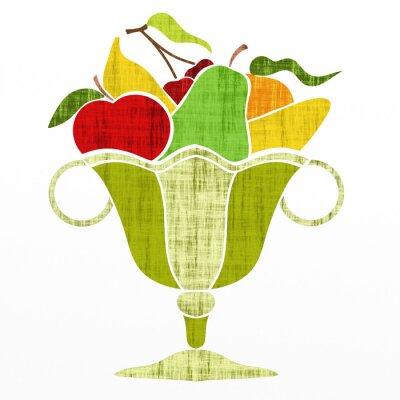 Adesivo Copo com fruta