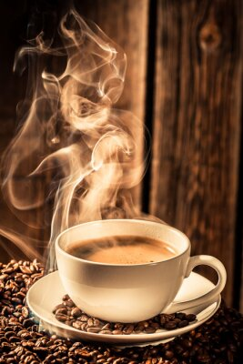 Adesivo Copo de café Aroma com sementes torradas