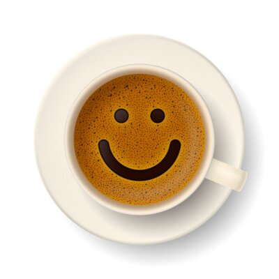 Adesivo Copo de café por bom humor