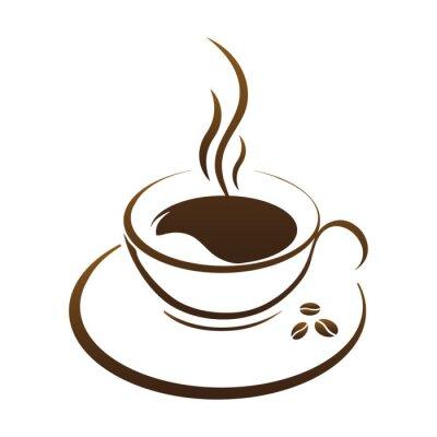 Adesivo Copo de café quente vetor