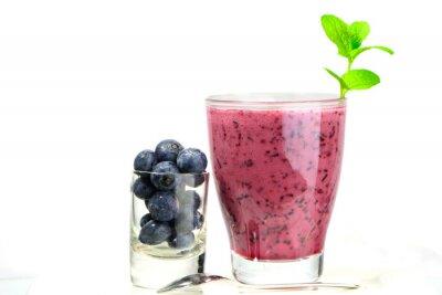 Adesivo copo de fresco Blueberry Smoothie