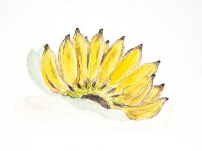 Adesivo cor de água de banana pintado