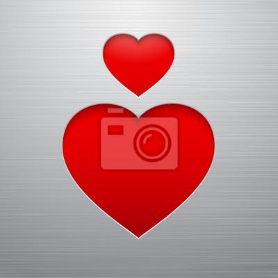 Adesivo Coração do dia de Valentines