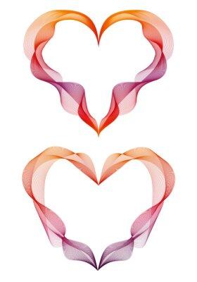 Adesivo corações abstratos fita, vetor