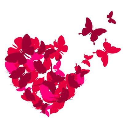 Adesivo corações do amor,